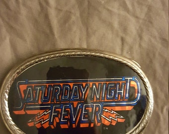 Saturday Night Fever belt buckle