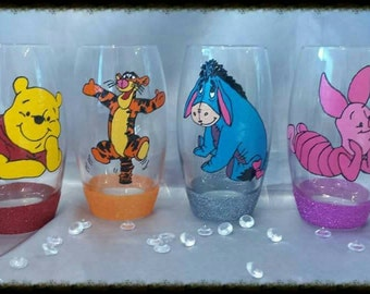 One Hand painted character from winnie the pooh