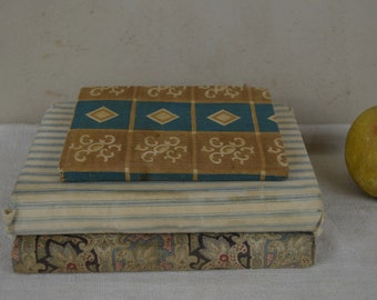 Stack of vintage Stack of vintage fabric covered books #2