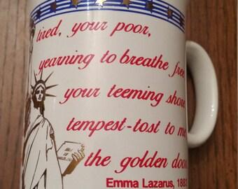 22k Mug / Statue of Liberty / Vintage / 70s / American / Americana / Patriotic / USA / United States / Freedom / Liberty / Coffee Cup / CIJ