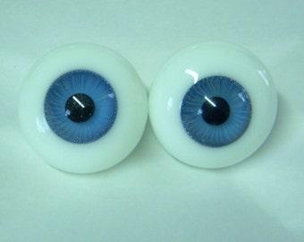 Vintage Seeley Solid Glass DOLL EYES 26mm BLUE - Paperweight - Hi-Lens - Designer Line