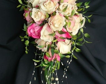 Cascading Rose Bridal Bouquet
