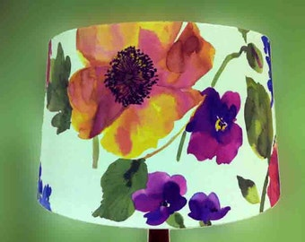 Drum Floral Lampshade large round  muliple sizes available