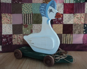 Rustic Duck Pull Toy,Wood Duck,Rustic Pull Toy ,Rustic Duck Decor,Country Duck,