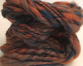 Handspun merino  wool yarn. Bulky weight. Weighs 3.2oz appx. 46 yards.