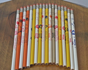 1980s NFL Football Pencils, Collection of Pencils
