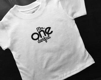 Toddler Mr. Onederful tshirt