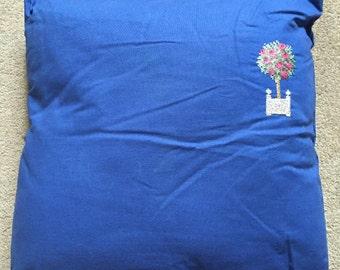 Cross stitch rose tree cushion