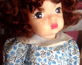 Terri Lee Doll | Vintage 1950s 16 inch Doll |  Terri Lee in Blue Dress