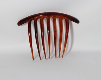 Coffee Brown Hair Comb Plastic Made in Italy
