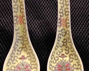 chinese vintage porcelain spoon