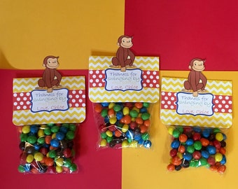 Curious George Treat Bag Toppers