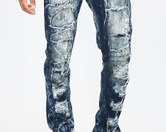 Straight Leg Jeans on Acid Wash with Self Lining