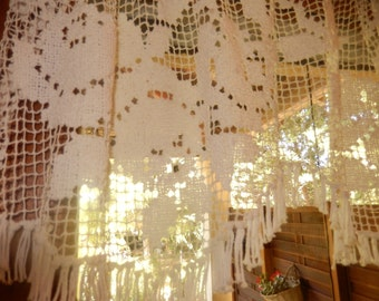 french vintage bise Breeze or lace for window curtain