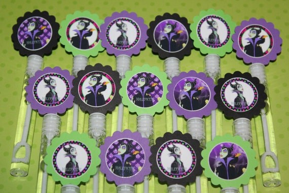 Maleficent inspired mini bubble wands party favors set of 15 for Mini bubble wands