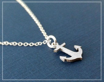 I Refuse To Sink Necklace Sterling Silver Anchor Necklace Nautical Anchor Jewelry