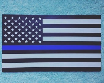 Police Flag, wood sign