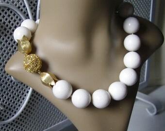 A white dream - white coral - necklace
