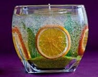 Fruit gel candle