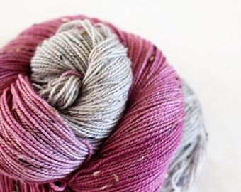 Sansa - House Wren - 85/15 superwash merino/ nylon tweed sock yarn