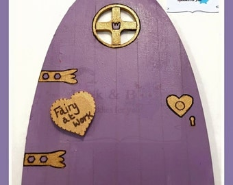 Wooden Fairy Door, hand painted fairy door, magical door, fairy door, handpainted