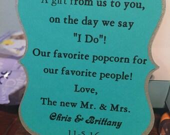 Wedding favor tag sets