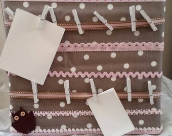 Bulletin Board, memo Board, the romantic pink taupe