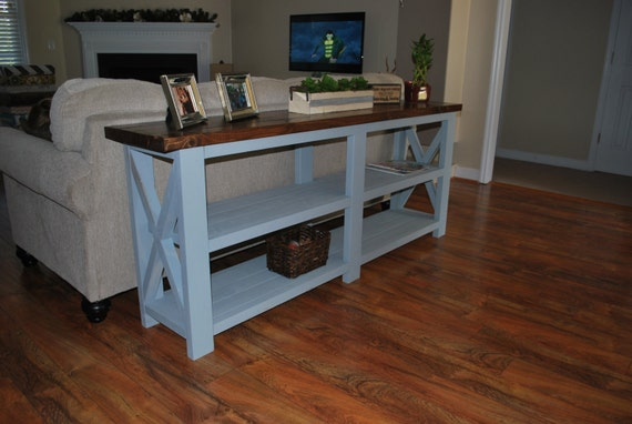 Rustic Console Table Farmhouse Style rustic x wood console