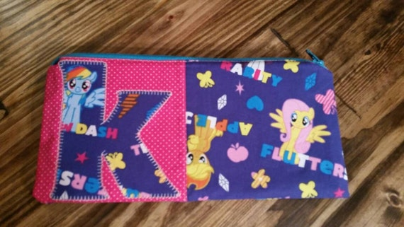 puff and pass cover letter - my little pony letter initial zipper pouch
