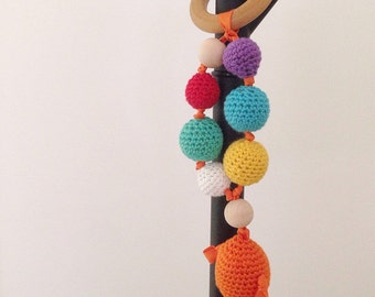 Fish Rattle, Baby Crochet Rattle, Baby Crochet Toy, Baby Teether,