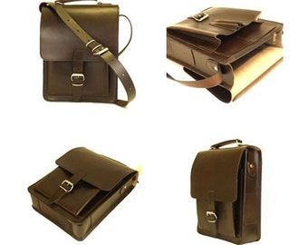Leather Messenger Bag, Leather Shoulder Bag, Courier Bag, Leather Satchel