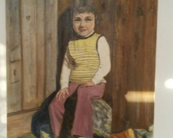 Mid Century Portrait Young Girl