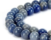 Nice Smooth Blue Aventurine Gemstone Round Loose Beads 4mm/ 6mm/8mm/10mm  Approximate 15.5 Inches per Strand R-S-AVE-0040