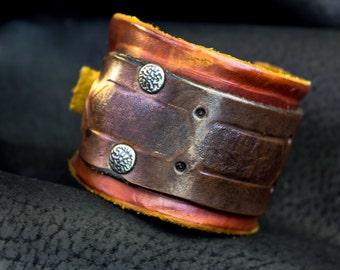 Leather Cuff Bracelet, Leather Bracelet  for Men
