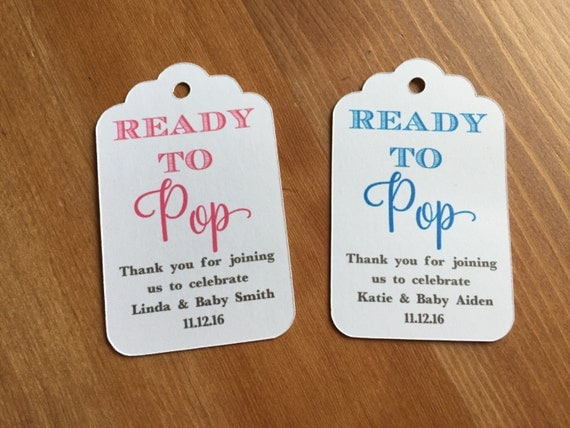 Ready to pop baby shower favor tags popcorn favor tags for Baby shower label template for favors