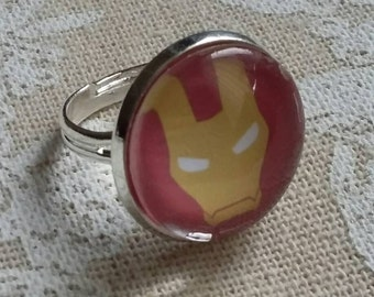Iron Man silver ring