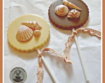 Chocolate Shell Lollipop/Beach Wedding Favours/Wedding Chocolate/Shell Gift/Edible Shells/Seaside/Ocean/Sand/Chocolate Shells/Women/Mum/Girl