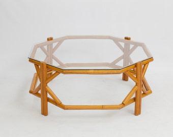 Bamboo Coffee Table / Mid Century / Bohemian Modern