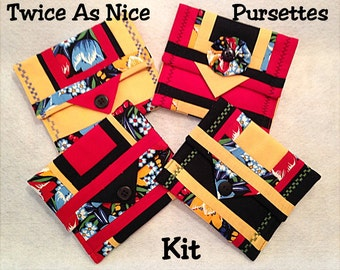 Twice as Nice Pursettes KIT - Set of Four Different Styles // Moda Fabric and Patterns