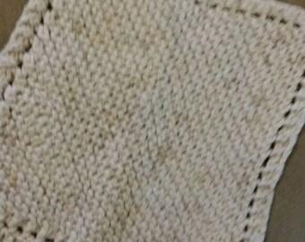 Hand-made knit dishcloths. The best kind around.