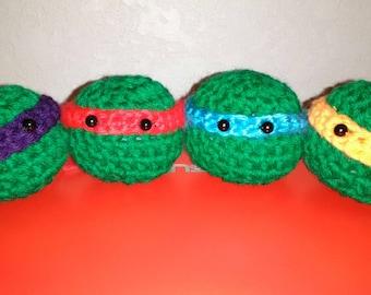 Crocheted TMNT character head