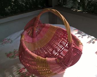 vintage pink egg  basket