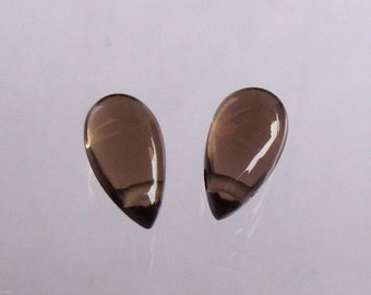 10x5x4MM, 100% Natural 4Ct Brown Smoky Quartz Faceted Pair Jewellery Cabochon Gemstone, Y- 384