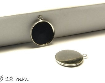 Cabochon versions / Locket 18 mm, silver