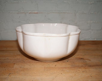 Fluted Ironstone Serving Bowl