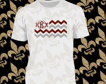 Mississippi State Flag Shirt,  MS Football Monogram, Custom Shirt, Custom Woman Shirt, Custom Man Shirt, Hail State, Football Shirt
