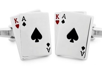 Cufflinks Poker Cards