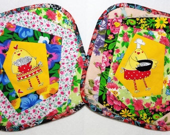 Handmade Potholders, Colorful, Bright, Great Gift