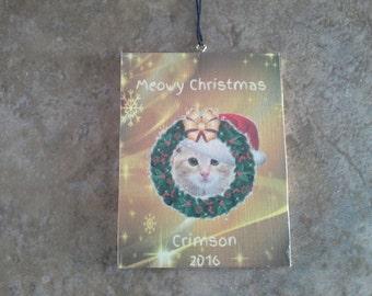 51  meowy christmas cat christmas ornament