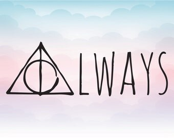 Harry Potter Always SVG EPS DXF Ai vector file  for Cricut, Silhouette cut files, Harry Potter svg, Deathly Hallows cut Art design